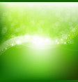 green nature poster vector image vector image