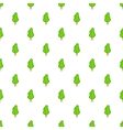 Green tree pattern cartoon style vector image