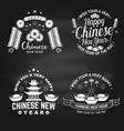 happy chinese new year on chalkboard chinese vector image vector image