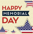 happy memorial day background star and stripes vector image vector image
