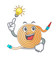 have an idea the water hose mascot vector image vector image