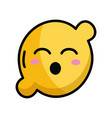 kawaii cute funny lemon fruit vector image vector image