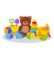 kid toys playing room vector image vector image