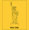 liberty of statuehand drawn sketch vector image vector image