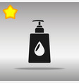 liquid soap black icon button logo symbol vector image vector image