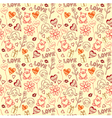 Love Doodle Pattern Background vector image vector image
