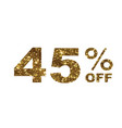 luxury golden glitter forty five percent special vector image vector image
