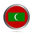 Maldives flag button vector image vector image