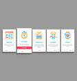marathon onboarding elements icons set vector image vector image