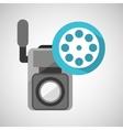 movie video camera film reel icon vector image