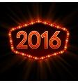 new year retro light frame vector image