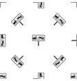 no parking sign pattern seamless black vector image vector image