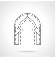 Oriental arch flat line icon vector image vector image