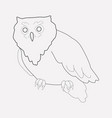 owl icon line element of owl vector image