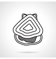 Oyster black line icon vector image vector image