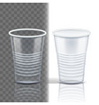 plastic cup transparent mockup coffee vector image vector image