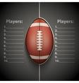 poster template american football ball vector image vector image