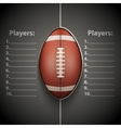 Poster Template of American Football Ball vector image vector image