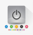 power on off button icon sign symbol app in gray vector image