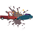 Road collision vector image vector image