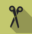 scissors closed on background flat design vector image