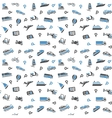 Seamless background transport icons wallpaper vector image vector image