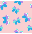 Seamless pink pattern with purple and blue vector image