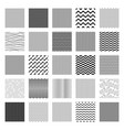 seamless wavy line pattern big set vector image vector image