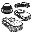 set cars design elements for logo label vector image