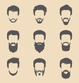 Set of cartoon head icons vector image vector image
