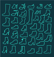 Set of womens shoes icons vector image vector image
