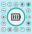 set simple game icons vector image
