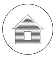 siding front icon black color in circle vector image