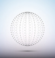 Sphere from dots Wireframe mesh polygonal element vector image