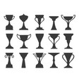 sports tournament trophy cups vector image vector image