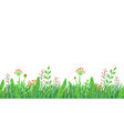 spring grass seamless border floral vector image vector image