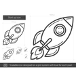 Start up line icon vector image vector image