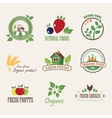 stickers for organic products vector image