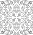 tile oriental floral seamless doodle ethnic patter vector image vector image