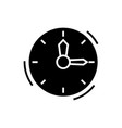 time - clock icon black sign vector image vector image