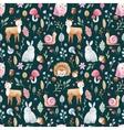 Watercolor baby pattern vector image vector image
