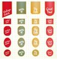Collection of vintage retro grunge sale labels vector image