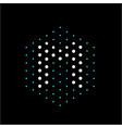letter m dots polygonal logo vector image