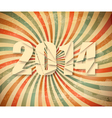 2014 Happy New Year retro background vector image