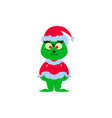 a christmas angry of icon ill green vector image