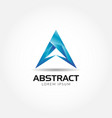 abstract blue letter a logo symbol icon vector image vector image