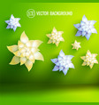 artificial flowers background vector image vector image