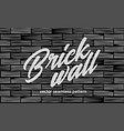 black brick wall texture seamless pattern vector image vector image