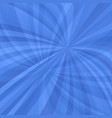 blue curved ray burst background vector image vector image