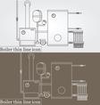 Boiler thin line design Boiler pen Icon Boiler Ico vector image